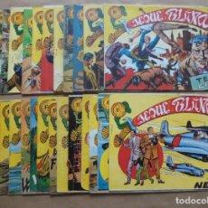 Tebeos: JEQUE BLANCO - LOTE DE 24 EJEMPLARES - ORIGINALES - ROLLÁN - JLV. Lote 86142064