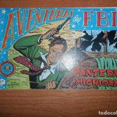Tebeos: AVENTURAS DEL FBI Nº 1 LA PANTERA DE MICHIGAN EDITORIAL ROLLAN ORIGINAL . Lote 89441456
