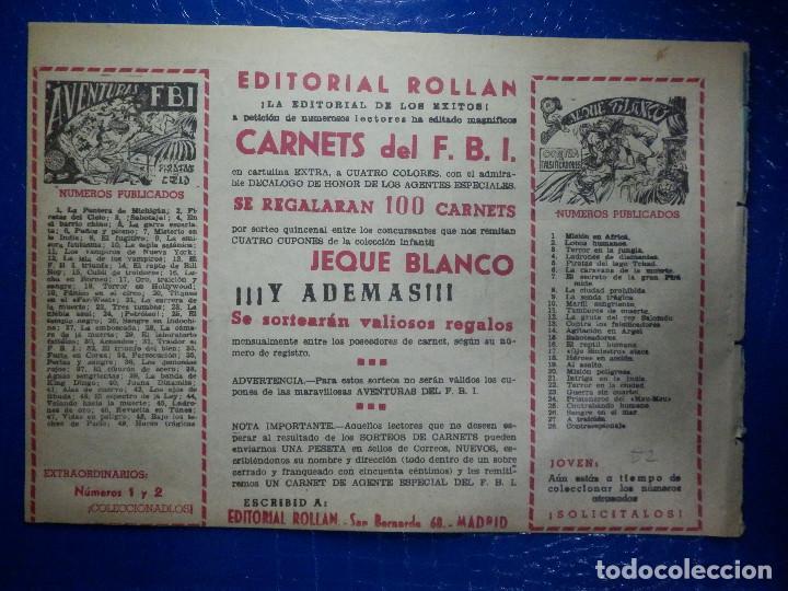 Tebeos: TEBEO - COMIC - AVENTURAS DEL FBI - LA ISLA DE LOS LEPROSOS - ROLLAN - Nº 52 - Foto 2 - 92236045