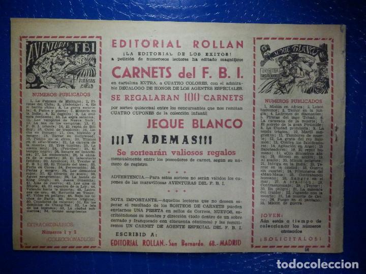 Tebeos: TEBEO - COMIC - AVENTURAS DEL FBI - EL CEMENTERIO DE LAS BALLENAS - ROLLAN - Nº 56 - Foto 2 - 92236075