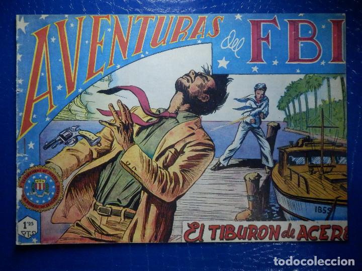 TEBEO - COMIC - AVENTURAS DEL FBI - EL TIBURON DE ACERO - ROLLAN - Nº 37 (Tebeos y Comics - Rollán - FBI)