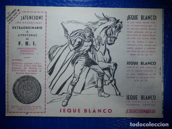 Tebeos: TEBEO - COMIC - AVENTURAS DEL FBI - EL TIBURON DE ACERO - ROLLAN - Nº 37 - Foto 2 - 92236520