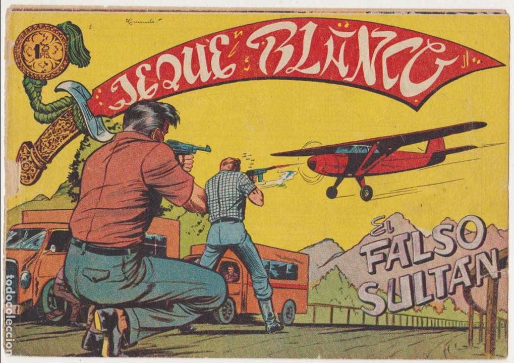 JEQUE BLANCO Nº 130. ROLLÁN 1951. (Tebeos y Comics - Rollán - Jeque Blanco)
