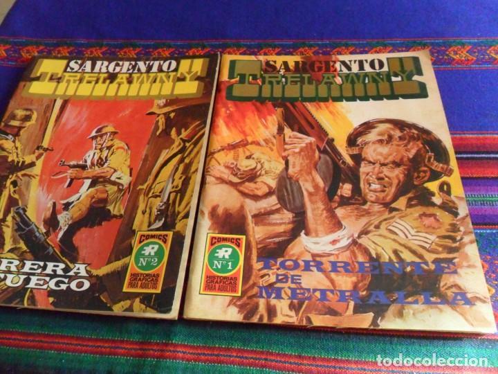 SARGENTO TRELAWNY NºS 1 TORRENTE DE METRALLA Y 2 BARRERA DE FUEGO. ROLLÁN 1973. MBE. RAROS. (Tebeos y Comics - Rollán - Series Rollán (Azul, Roja, etc))