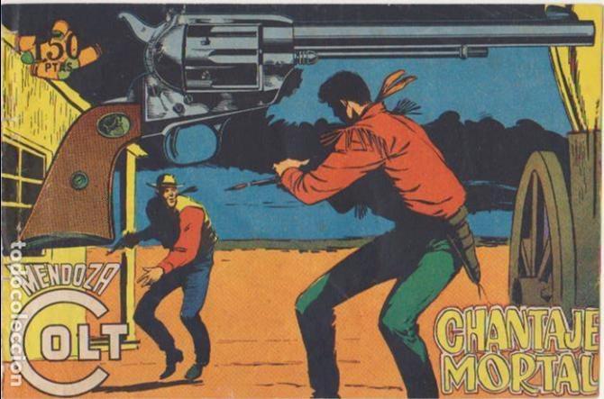 MENDOZA COLT Nº 107. EDITORIAL ROLLÁN 1955. (Tebeos y Comics - Rollán - Rock Vanguard)