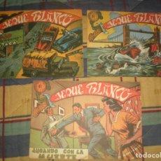 Tebeos: LOTE DE 3 TEBEOS DEL JEQUE BLANCO (DE LA EDITORIAL ROLLAN). Lote 100760231