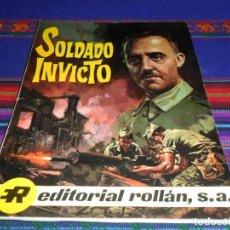 Tebeos: SOLDADO INVICTO, VIDA DE FRANCO. ROLLÁN 1969. RÚSTICA. RARO.. Lote 101788931