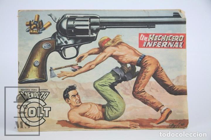 CÓMIC MENDOZA COLT / UN HECHICERO INFERNAL Nº 43 - EDICIONES ROLLAN - AÑO 1958 (Tebeos y Comics - Rollán - Mendoza Colt)
