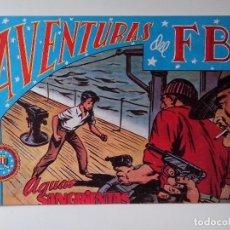 BDs: AVENTURAS DEL F.B.I. Nº 38 AGUAS SANGRIENTAS ORIGINAL MUY BUEN ESTADO. Lote 104547091
