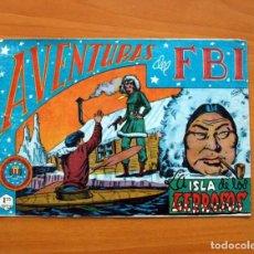 Tebeos: AVENTURAS DEL FBI - Nº 52, LA ISLA DE LOS LEPROSOS - EDITORIAL ROLLAN 1951 - TAMAÑO 17X24. Lote 104617279