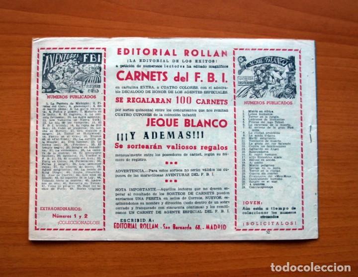 Tebeos: Aventuras del FBI - nº 52, La isla de los Leprosos - Editorial Rollan 1951 - Tamaño 17x24 - Foto 6 - 104617279