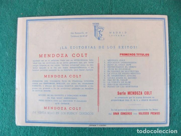 Tebeos: MENDOZA COLT Nº 11 EDITORIAL ROLLAN ORIGINAL - Foto 2 - 105030631