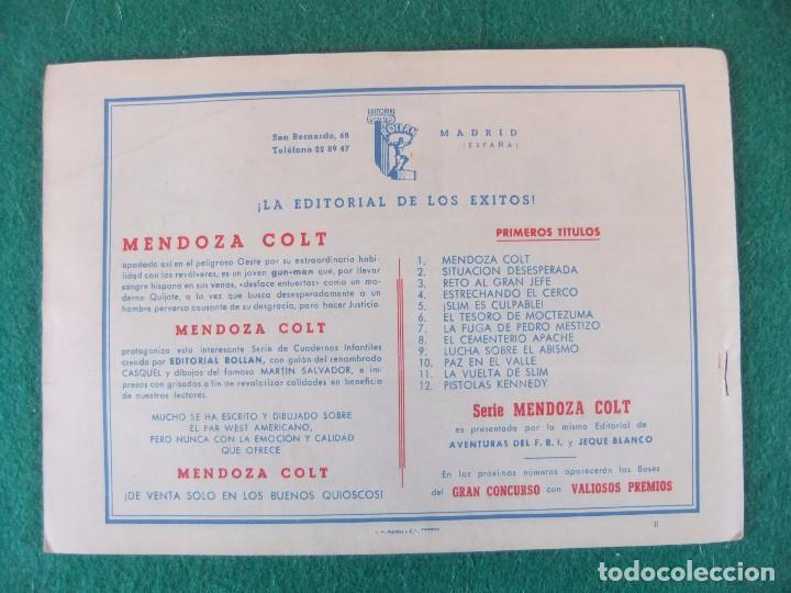 Tebeos: MENDOZA COLT Nº 6 EDITORIAL ROLLAN ORIGINAL - Foto 2 - 105030667