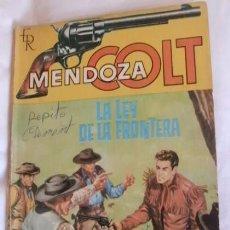 Tebeos: MENDOZA COLT NOVELA LA LEY DE LA FRONTERA. Lote 105303459