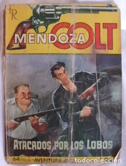 MENDOZA COLT NOVELA Nº 30 ATACADOS POR LOS LOBOS (Tebeos y Comics - Rollán - Mendoza Colt)