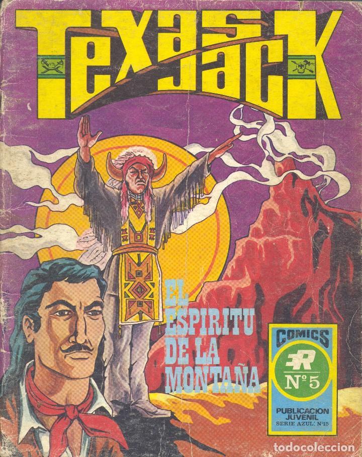 TEXAS JACK Nº5. SERIE AZUL Nº15. EDITORIAL ROLLÁN, 1973 (Tebeos y Comics - Rollán - Series Rollán (Azul, Roja, etc))