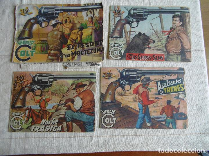 MENDOZA COLT 4 COMICS EDITORIAL ROLLÁN 1955. ORIGINALES (Tebeos y Comics - Rollán - Mendoza Colt)