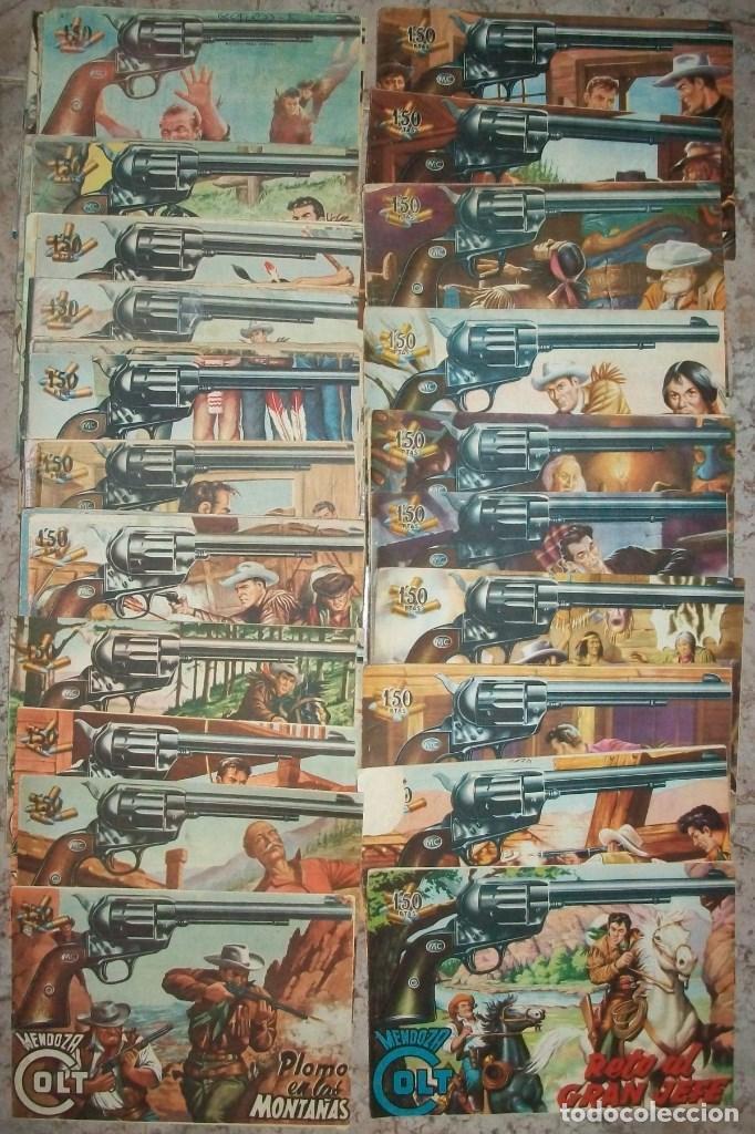 MENDOZA COLT (ROLLAN) (LOTE DE 68 NUMEROS DIFERENTES) (Tebeos y Comics - Rollán - Mendoza Colt)
