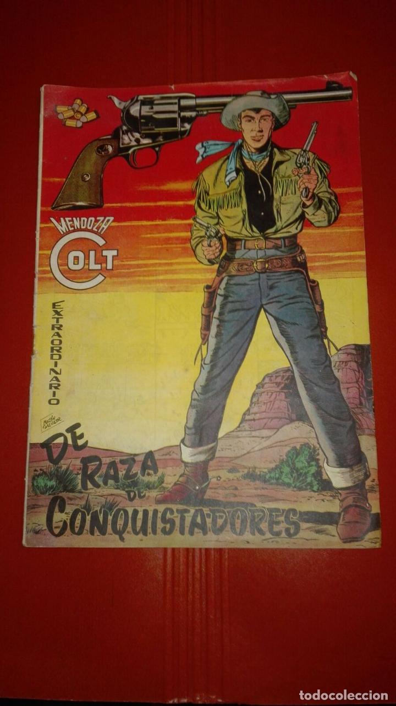 MENDOZA COLT EXTRAORDINARIO Nº 1 DE RAZA DE CONQUISTADORES. ED. ROLLÁN. DIFICIL ORIGINAL C95SAD (Tebeos y Comics - Rollán - Mendoza Colt)