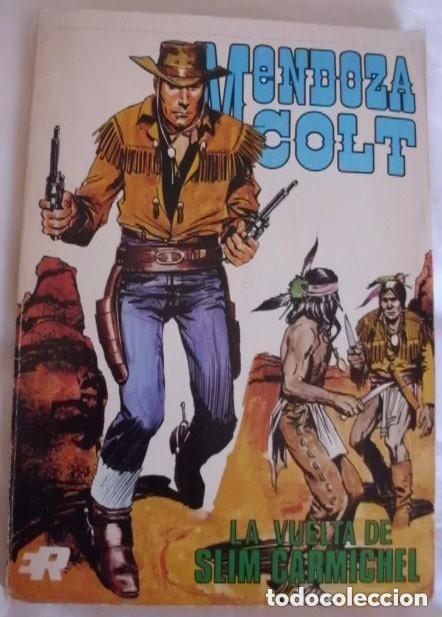 MENDOZA COLT, AÑO 1974 COLECCIÓN COMPLETA SON 6 TEBEOS DE 21 X 15 SON ORIGINALES EDITORIAL ROLLÁN (Tebeos y Comics - Rollán - Mendoza Colt)