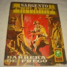 Tebeos: SARGENTO TRELAWNY N° 2 , SERIE ROJA N° 15, BARRERA DE FUEGO. Lote 114793999