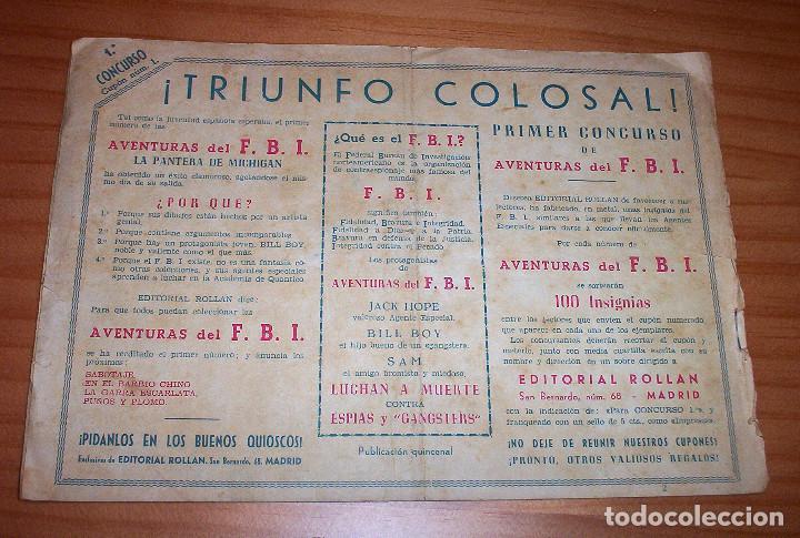 Tebeos: ORIGINAL - AVENTURAS DEL F.B.I. - NUMERO 2: PIRATAS DEL CIELO - Foto 7 - 114962163