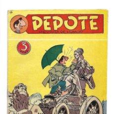 Tebeos: PEPOTE, Nº 4. AÑO 1.953. ORIGINAL ÚLTIMO DE LA COLECCIÓN NUEVO EDITORIAL ROLLÁN.. Lote 116382087