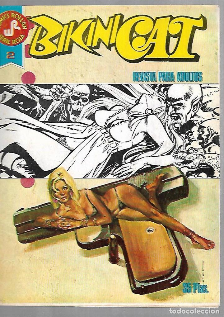 TEBEO. BIKINICAT. Nº 2. COMIC ROLLAN. SERIE ROJA. REVISTA PARA ADULTOS (Tebeos y Comics - Rollán - Otros)
