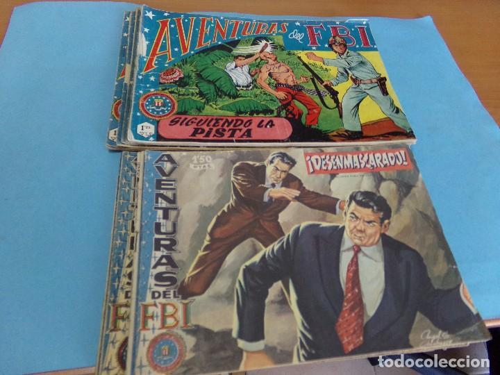 20 TEBEOS DEL AVENTURAS DEL FBI,EDITORIAL ROLLAN 1958 (Tebeos y Comics - Rollán - FBI)