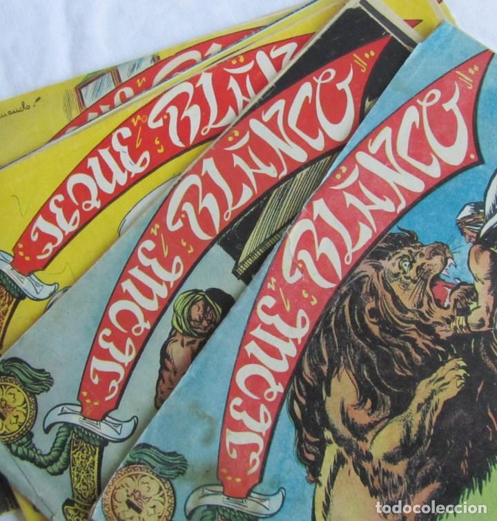 8 NÚMEROS DE JEQUE BLANCO ED. ROLLAN. Nº: 4-5-11-16-19-24-25-26. ORIGINALES AÑOS 50 (Tebeos y Comics - Rollán - Jeque Blanco)
