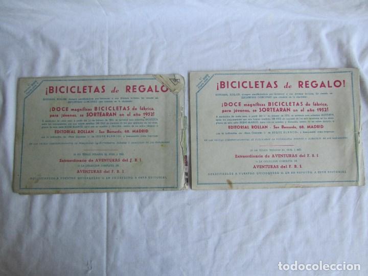 Tebeos: 8 números de Jeque Blanco Ed. Rollan. Nº: 4-5-11-16-19-24-25-26. Originales años 50 - Foto 3 - 126995079