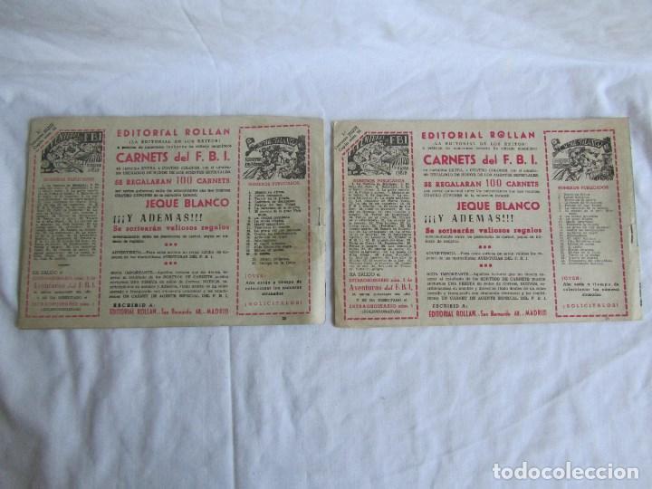 Tebeos: 8 números de Jeque Blanco Ed. Rollan. Nº: 4-5-11-16-19-24-25-26. Originales años 50 - Foto 9 - 126995079