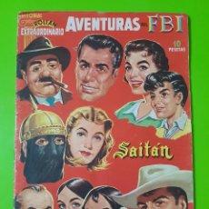 Tebeos: ROLLÁN EXTRAORDINARIO DE DICIEMBRE DE 1957 CON AVENTURAS DEL FBI, SAITÁN, MENDOZA COLT, ETC UNA JOYA. Lote 128585631