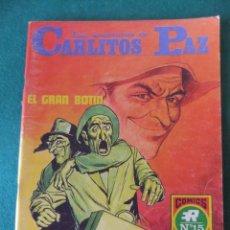Tebeos: LAS AVENTURAS DE CARLITOS PAZ Nº 15 EL GRAN BOTIN COMICS ROLLAN. Lote 131180392