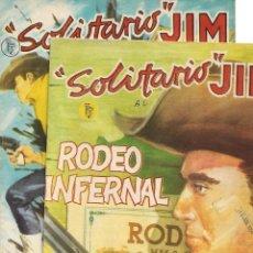 Tebeos: SOLITARIO JIM, AÑO 1.959 COLECCIÓN COMPLETA SON 2. TEBEOS ORIGINALES DIBUJOS DE PRIETO MURIANA. Lote 132971286