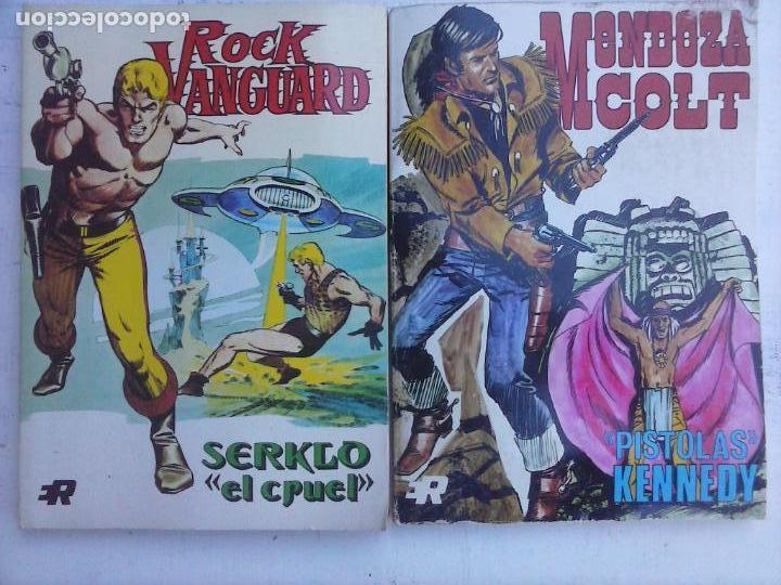 ROCK VANGUARD Nº 2 Y MENDOZA COLT Nº 5 EDI. ROLLAN 1974 (Tebeos y Comics - Rollán - Rock Vanguard)