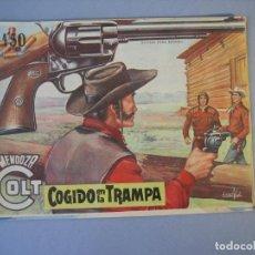 Tebeos: MENDOZA COLT (1956, ROLLAN) 58 · 24-XI-1958 · COGIDOS EN LA TRAMPA. Lote 136425314