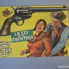 Tebeos: MENDOZA COLT (1956, ROLLAN) 51 · 8-IX-1958 · LA LEY DE LA FRONTERA. Lote 136425350