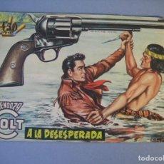 Tebeos: MENDOZA COLT (1956, ROLLAN) 47 · 18-VII-1958 · A LA DESESPERADA. Lote 136425366