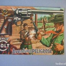 Tebeos: MENDOZA COLT (1956, ROLLAN) 18 · 7-VI-1957 · AVENTURA PELIGROSA. Lote 136425390