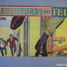 Tebeos: FBI, AVENTURAS DEL (1951, ROLLAN) 237 · 24-VI-1960 · LUCHA EN LAS VEGAS. Lote 136426254