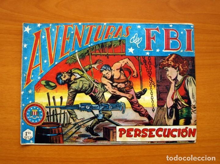 AVENTURAS DEL FBI - Nº 34, PERSECUCIÓN - EDITORIAL ROLLÁN 1951 (Tebeos y Comics - Rollán - FBI)