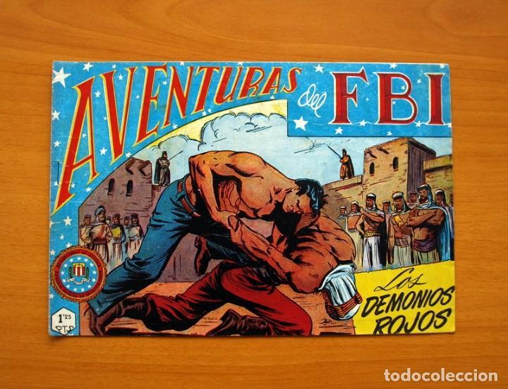 AVENTURAS DEL FBI - Nº 36, LOS DEMONIOS ROJOS - EDITORIAL ROLLÁN 1951 (Tebeos y Comics - Rollán - FBI)