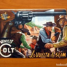 Tebeos: MENDOZA COLT - Nº 11, LA VUELTA DE SLIM - EDITORIAL ROLLÁN 1955. Lote 139846258