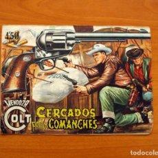 Tebeos: MENDOZA COLT - Nº 20, CERCADOS POR LOS COMANCHES - EDITORIAL ROLLÁN 1955. Lote 139929522