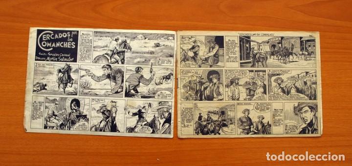 Tebeos: Mendoza Colt - Nº 20, Cercados por los Comanches - Editorial Rollán 1955 - Foto 2 - 139929522