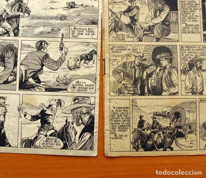 Tebeos: Mendoza Colt - Nº 20, Cercados por los Comanches - Editorial Rollán 1955 - Foto 3 - 139929522