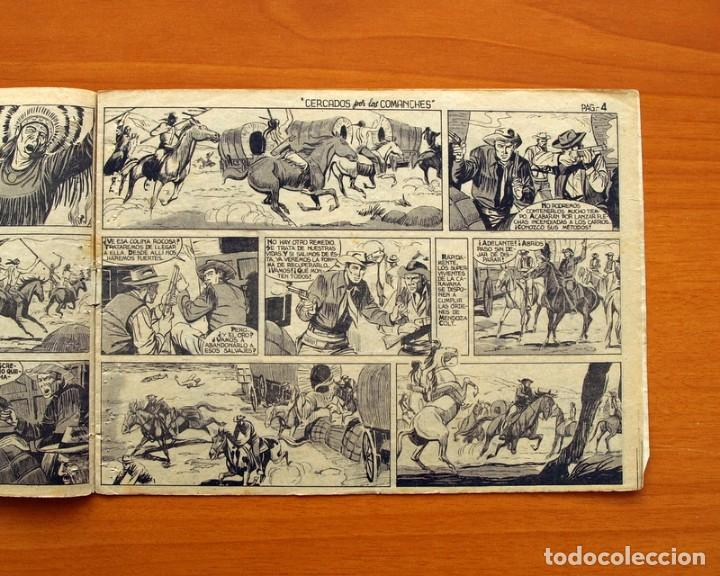 Tebeos: Mendoza Colt - Nº 20, Cercados por los Comanches - Editorial Rollán 1955 - Foto 4 - 139929522