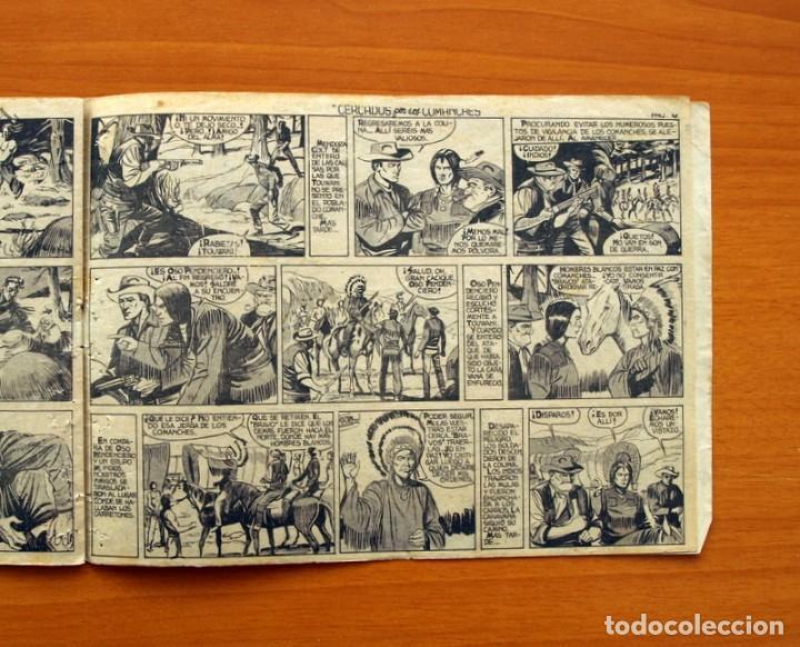 Tebeos: Mendoza Colt - Nº 20, Cercados por los Comanches - Editorial Rollán 1955 - Foto 7 - 139929522
