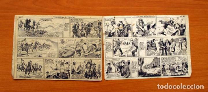 Tebeos: Mendoza Colt - Nº 20, Cercados por los Comanches - Editorial Rollán 1955 - Foto 8 - 139929522